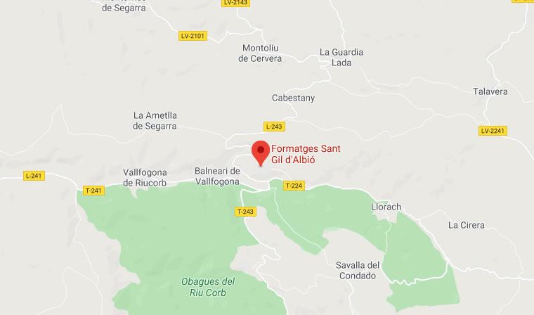 Mapa de situació de Sant Gil d'Albió